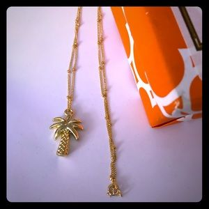 "Lilly Pulitzer 16"" 🌴 Palm Tree Charm Necklace"